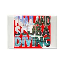 Thailand Scuba Diving Rectangle Magnet