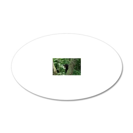 BlackBear 20x12 Oval Wall Decal