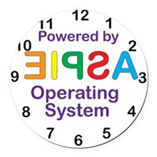 Clock OS Round Car Magnet