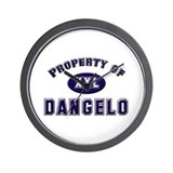 Property of dangelo Wall Clock