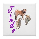 Jindo dog Tile Coaster