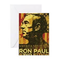 Ron Paul Distressed Poster 2009 Greeting Card