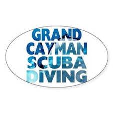 Grand Cayman Scuba Diving Oval Decal