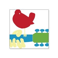 "woodstock_2011_red_bird_gui Square Sticker 3"" x 3"""