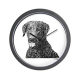 Curly-Coated Retriever Wall Clock