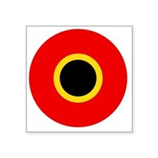 "5x5-Roundel_of_Belgium_1945 Square Sticker 3"" x 3"""