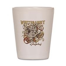 whiterabbit-flourishes-gold Shot Glass