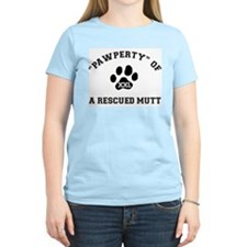 """Pawperty"" of a Rescued Mutt Women's Pink T-Shirt"