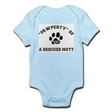 """Pawperty"" of a Rescued Mutt Onesie"