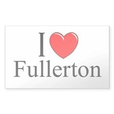 """I Love Fullerton"" Rectangle Decal"