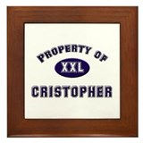 Property of cristopher Framed Tile