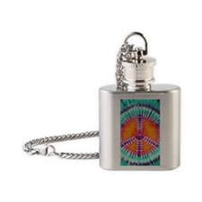 444 Blue Peace Flask Necklace