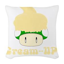 Cream-up Woven Throw Pillow