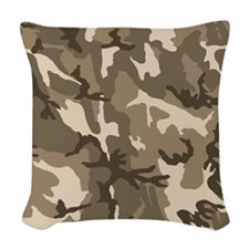 camo-tan_ff Woven Throw Pillow