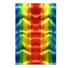 rainbow-flag-ripple_ff Postcards (Package of 8)