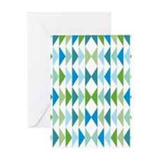triangle-geese-blue_ff Greeting Card