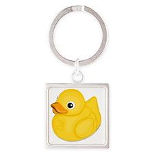 rubberduck-logo Square Keychain