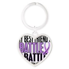 D Best Friend Him Heart Keychain