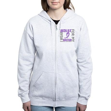 D I Wear Violet Sister 46 Hodgk Women's Zip Hoodie