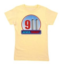 911 WTC Never Forget Girl's Tee