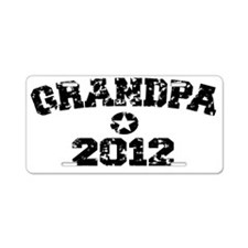 grandpa 2012hat Aluminum License Plate