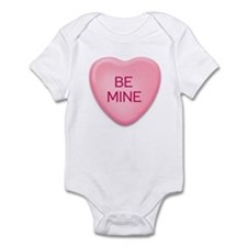 BE  MINE candy heart Infant Bodysuit