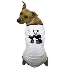 cafepress panda1 Dog T-Shirt