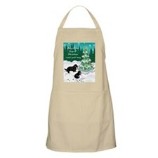 Newfies decorating the tree card Apron