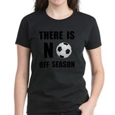 No Off Season Soccer Black Tee