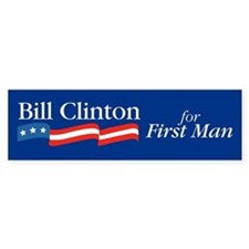 Bill for First Man Bumper Bumper Sticker