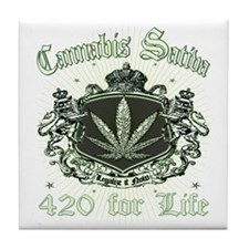 MARIJUANA_c Tile Coaster