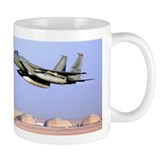 F15 Eagle taking off for Iraq Mug