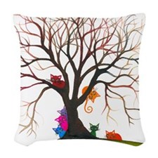 tree inglewood bigger Woven Throw Pillow