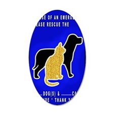 Cat  Dog Emergency Sticker b Wall Decal
