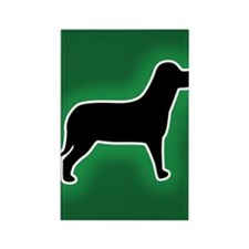 Dog Emergency Sticker Green Rectangle Magnet