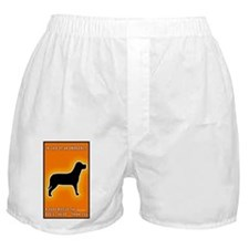 Dog Emergency Sticker Orange Boxer Shorts