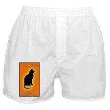 Cat emergency Sticker Orange Boxer Shorts