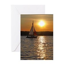 sunsetsailboatmouse Greeting Card