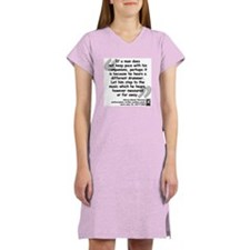 Thoreau Drummer Quote Women's Nightshirt