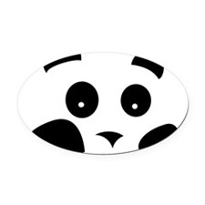 panda Oval Car Magnet