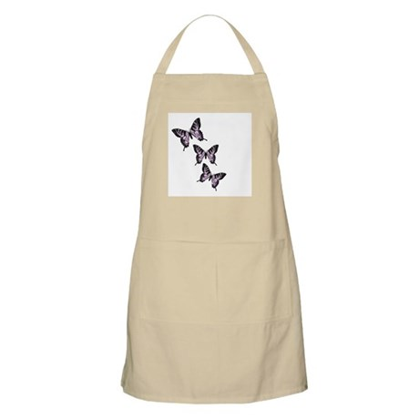 Three Purple Butterflies BBQ Apron