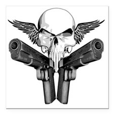 "1911_skull Square Car Magnet 3"" x 3"""