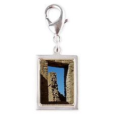 Pueblo Bonito Window Silver Portrait Charm