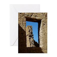 Pueblo Bonito Window Greeting Card