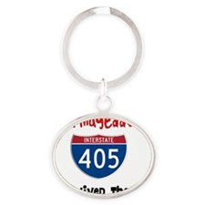 405 shirt 1 Oval Keychain