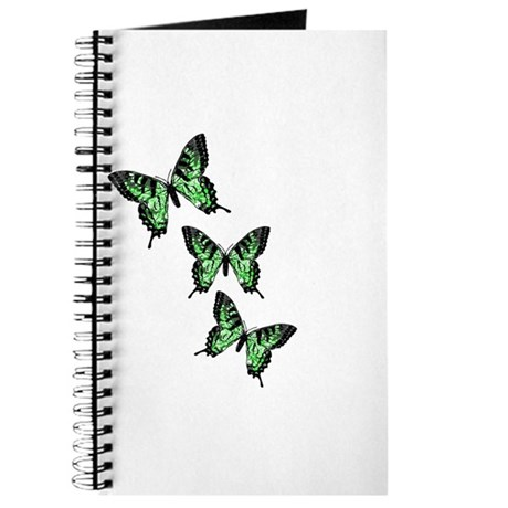 Three Green Butterflies Journal