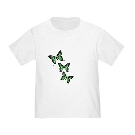 Three Green Butterflies Toddler T-Shirt