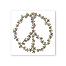 "Bees Peace Sign Square Sticker 3"" x 3"""