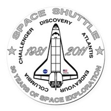 Space Shuttle_cafepress_2_bright Round Car Magnet