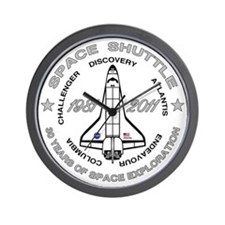 Space Shuttle_cafepress_2_bright Wall Clock
